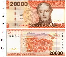Изображение Банкноты Чили 20000 песо 2018  UNC
