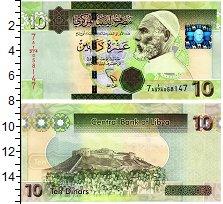 Изображение Банкноты Ливия 10 динар 0  UNC