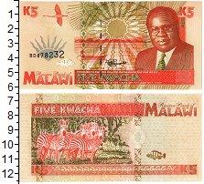 Изображение Банкноты Малави 5 квач 1995  UNC