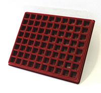 Изображение Аксессуары для монет Другие Пластиковый планшет на 80 ячеек (22х22х08мм) 0   Внешний размер планш