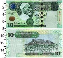 Изображение Банкноты Ливия 10 динар 2004  UNC Омар аль Мухтар