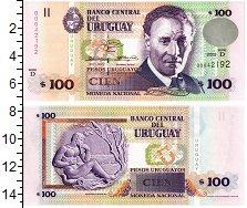 """Изображение Банкноты Уругвай 100 песо 2003  UNC """"Портрет Э. Фабини."""