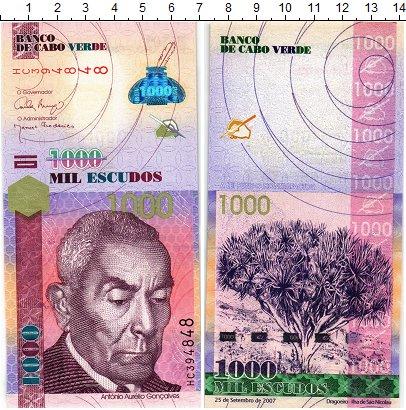 Изображение Банкноты Кабо-Верде 1000 эскудо 2007  UNC