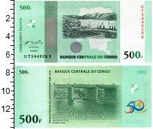 Изображение Банкноты Конго 500 франков 2010  UNC