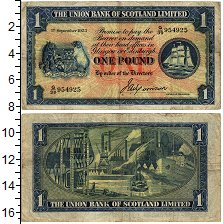 Изображение Банкноты Шотландия 1 фунт 1938  VF