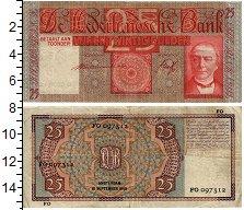 Изображение Банкноты Нидерланды 25 гульденов 1940  VF+ Президент банка В.К.