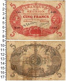 Изображение Банкноты Реюньон 5 франков 0  VF