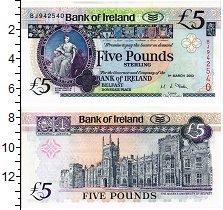 Изображение Банкноты Ирландия 5 фунтов 2003  UNC