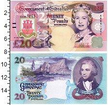 """Изображение Банкноты Гибралтар 20 фунтов 1995  UNC """"Портрет королевы Ел"""