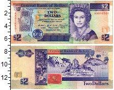 Изображение Банкноты Белиз 2 доллара 1990  XF
