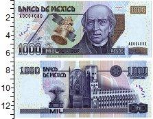 Изображение Банкноты Мексика 1000 песо 2002  UNC Мигель Идальго