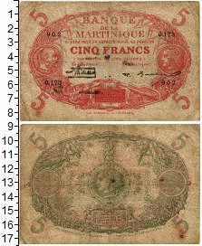 Изображение Банкноты Мартиника 5 франков 0  VF
