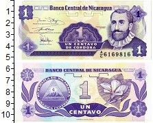 Изображение Банкноты Никарагуа 1 сентаво 1991  UNC