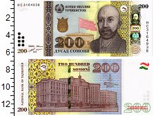 Изображение Банкноты Таджикистан 200 сомони 2018  UNC