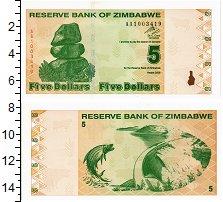 Изображение Банкноты Зимбабве 5 долларов 2009  UNC