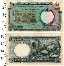 Изображение Банкноты Нигерия 5 фунтов 1968  XF