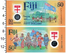 Изображение Банкноты Фиджи 50 долларов 2020 Пластик UNC 50 лет Независимости