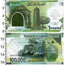 Изображение Банкноты Ливан 100000 ливров 2020 Пластик UNC 100 лет образования