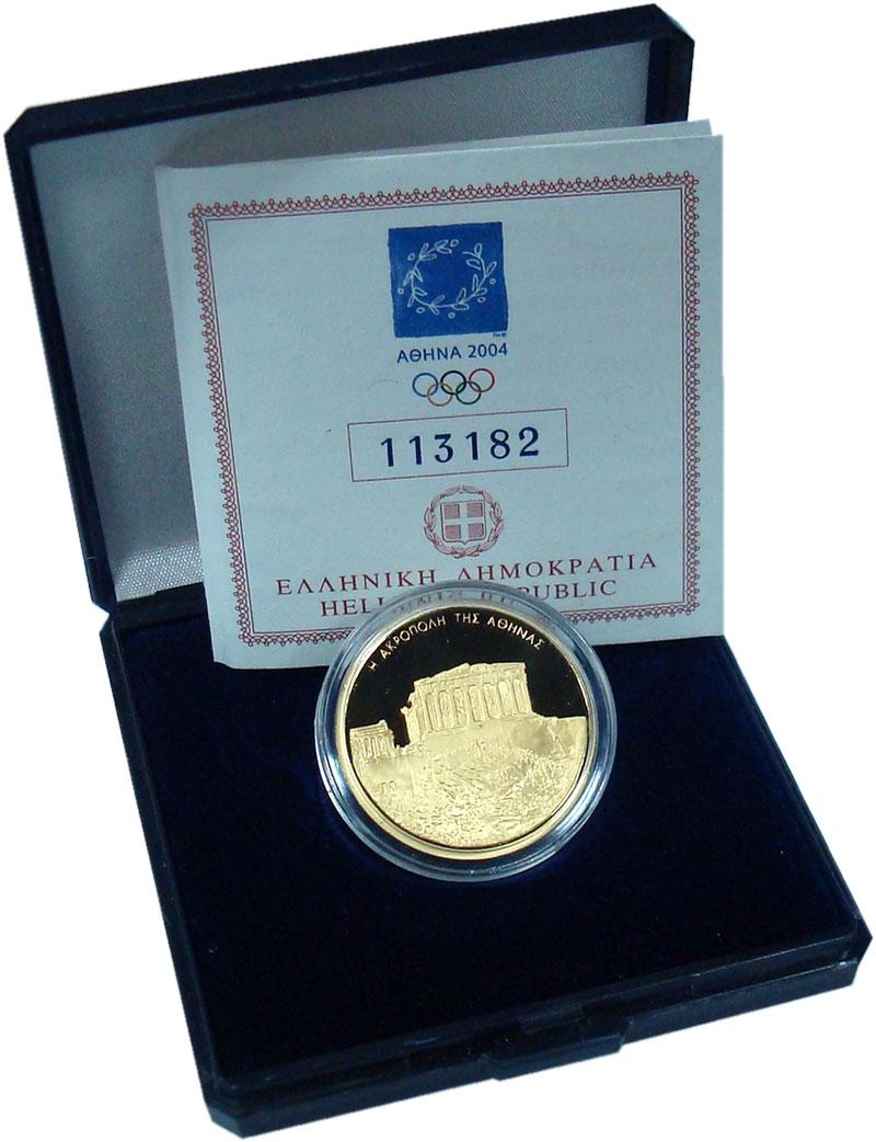 Изображение Монеты Греция 100 евро 2004 Золото Proof