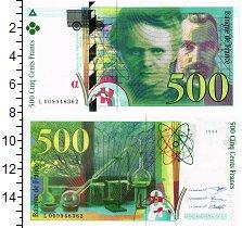 Изображение Банкноты Франция 500 франков 1994  UNC Мари и Пьер Кюри