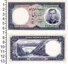 Изображение Банкноты Иран 10 риалов 1961  UNC