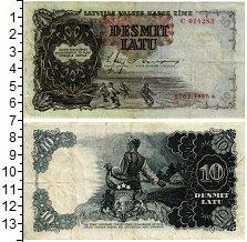 Изображение Банкноты Латвия 10 лат 1937  XF-