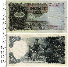 Изображение Банкноты Латвия 10 лат 1938  XF-