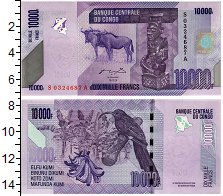 Изображение Банкноты Конго 10000 франков 2006  UNC