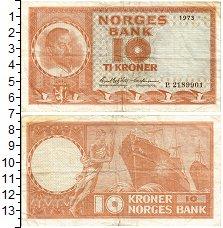 Изображение Банкноты Норвегия 10 крон 1973  XF- Олав V