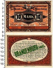 Изображение Банкноты Германия 10 марок 1917  XF Лагерь военнопленных