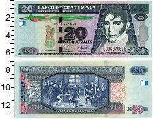 Изображение Банкноты Гватемала 20 куэталь 2008  UNC
