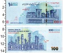 Изображение Банкноты Иран 1000000 риалов 2021  UNC
