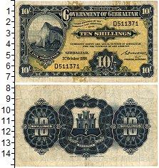 Изображение Банкноты Гибралтар 10 шиллингов 1958  VF