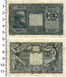Изображение Банкноты Италия 10 лир 1944  VF