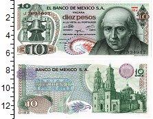 Изображение Банкноты Мексика 10 песо 1975  UNC Идальго