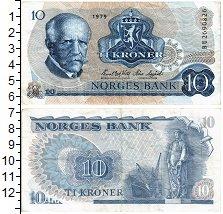 Продать Банкноты Норвегия 10 крон 1979