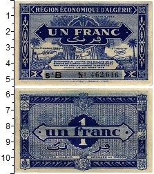 Изображение Банкноты Алжир 1 франк 1949  XF