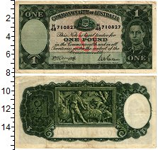 Изображение Банкноты Австралия 1 фунт 1938  XF-
