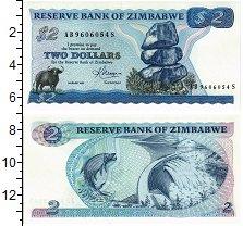 Изображение Банкноты Зимбабве 2 доллара 1983  UNC