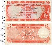 Изображение Банкноты Фиджи 5 долларов 1971  XF Елизавета II