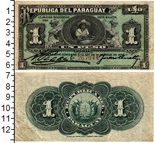 Изображение Банкноты Парагвай 1 песо 1903  XF