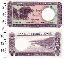 Изображение Банкноты Сьерра-Леоне 5 леоне 1964  UNC-