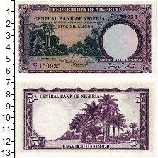 Изображение Банкноты Нигерия 5 шиллингов 1958  UNC