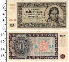 Изображение Банкноты Чехословакия 1000 крон 1945  XF