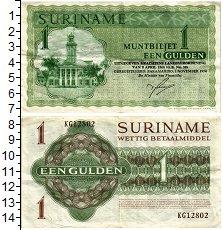Продать Банкноты Суринам 1 гульден 1984