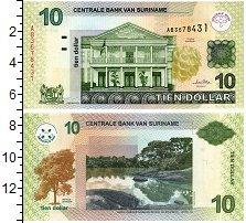 Продать Банкноты Суринам 10 долларов 2004