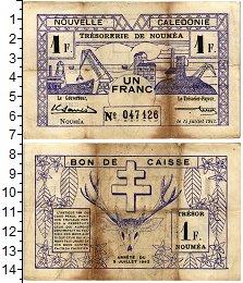 Изображение Банкноты Новая Каледония 1 франк 1942  VF