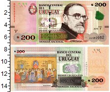 Изображение Банкноты Уругвай 200 песо 2015  UNC Педро Фигари