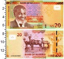 Изображение Банкноты Намибия 20 долларов 2018  UNC