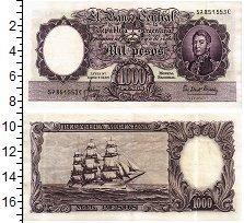 Продать Банкноты Аргентина 1000 песо 1964
